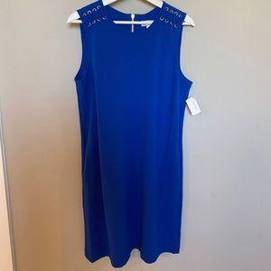 🆕 Blue Neiman Marcus Sleeveless Sheath Dress